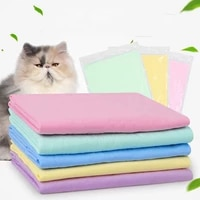 new lovely pet small medium large cats dogs bath towel super absorbent pva washable towels dog supplies