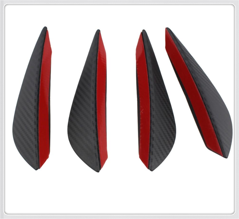 Auto parts 4PCS carbon fiber car spoiler small wind knife front bumper for Honda Jade FCV Crider NSX-GT N-One GEAR FCEV