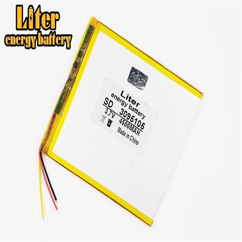 3 líneas de baterías de polímero de litio 3,7 V 4500mAh 3095105 para 7 pulgadas 9 pulgadas 12 pulgadas Tablet PC