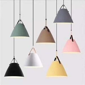 Nordic Macaron E27 Pendant Light Modern Creative Bar Restaurant Hanging Lamp Bedroom Bedside Living Room Single-Head Droplight