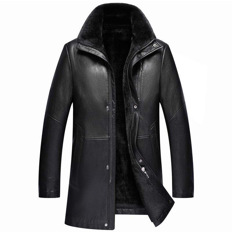 Chaqueta de piel de oveja para hombre, chaqueta cálida de terciopelo, M-3XL,...