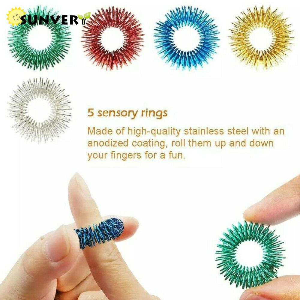 20 PCS Fidget Sensory Toys Pack Anti Stress Keychain Pea Poppit Kawaii Squishy Fitget Toy Ring Autism ADHD Toys for Kids Class enlarge