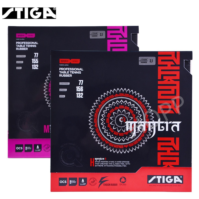 STIGA MANTRA M / H Table Tennis Rubber Pips-In Offensive Made in Japan Original STIGA Ping Pong Sponge