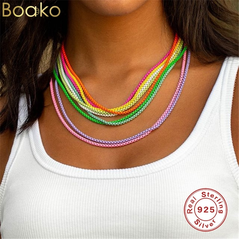 boako-925-стерлингового-серебра-2021-тенденция-ins-в-Корейском-стиле-милые-летние-детские-платья-с-Цветной-ожерелья-покрытые-эмалью-для-женщин
