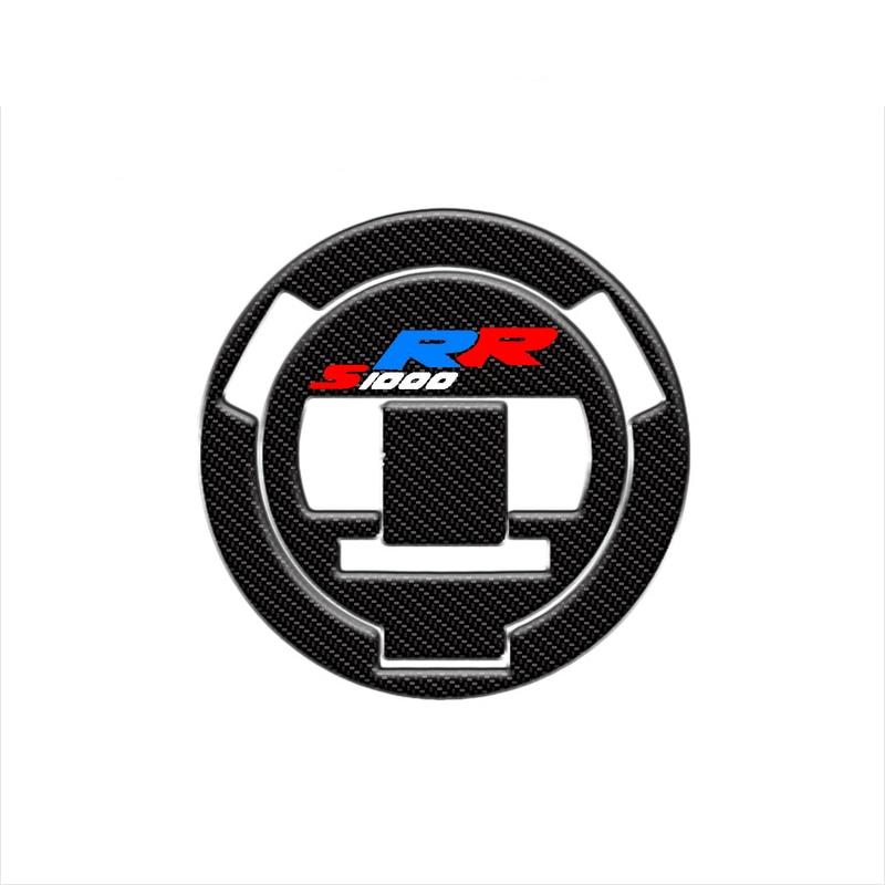 Para BMW F800R S1000RR pegatinas protectoras de motocicleta 3D fibra de carbono tapa de combustible para motocicleta pegatina F800R S1000RR