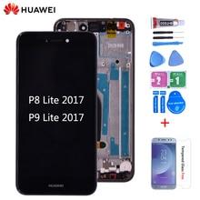 Original pour huawei P8 lite 2017 PRA-LA1 LCD écran tactile numériseur assemblée avec cadre pour huawei p9 lite 2017 lcd