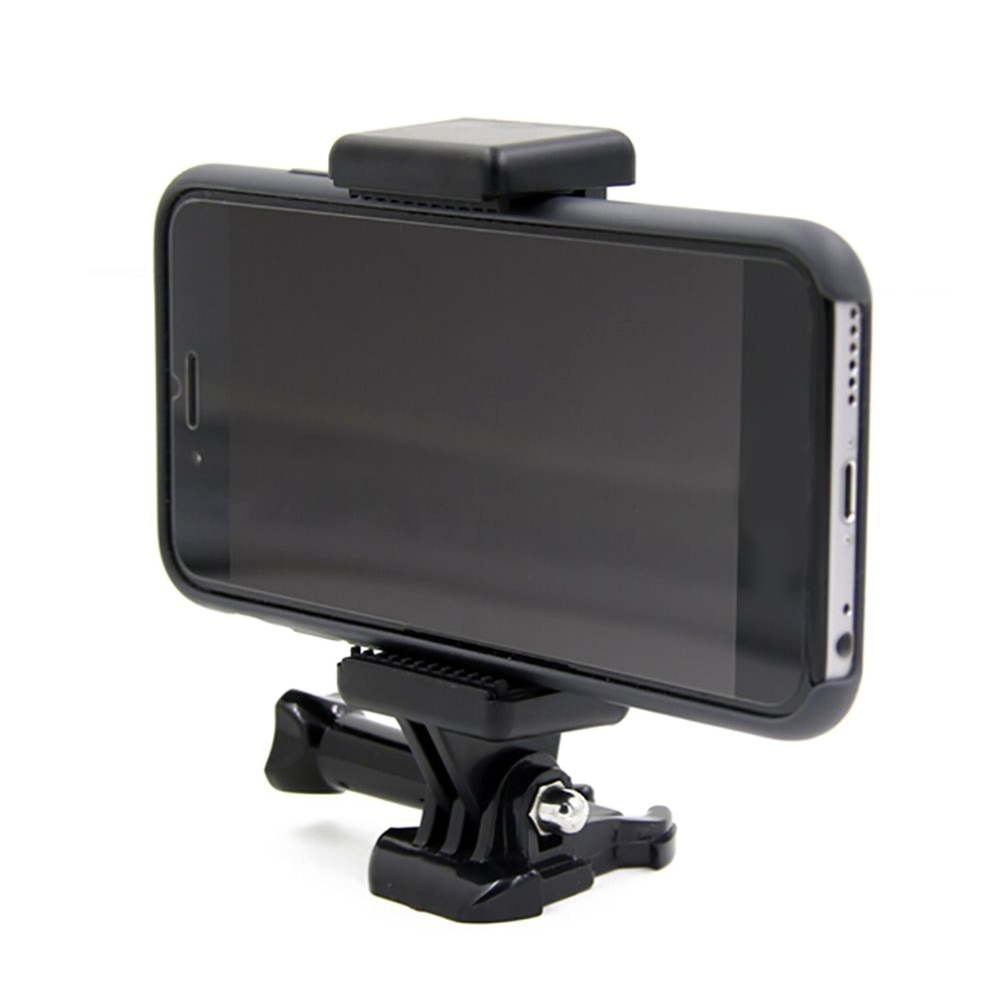 Portable Black Camera Accessory Adjustable Mount With 1 4 Screw Hole Phone Holder Stand Bracket Clip Tripod Adapter For GoPro