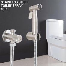 Stainless Steel Sprayer Gun Toilet Spray for Bathroom Self-Cleaning Shower Head Toilet Hand Held Bidet Faucet Sprayer Bidet Set