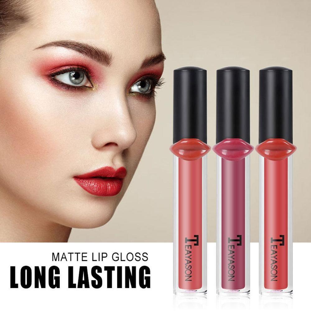 Nuevo pintalabios de 12 colores de doble labio, lápiz labial duradero resistente al agua, lápiz rojo Nude rosa púrpura líquido, pintalabios, maquillaje de labios