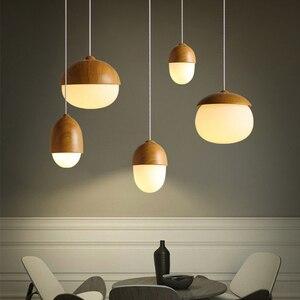 Nordic Room Decor Led Pendant Lights Nut Led Pendant Chandeliers Lighting For Living Room Dining Room Bar Hanging Lamp Fixtures
