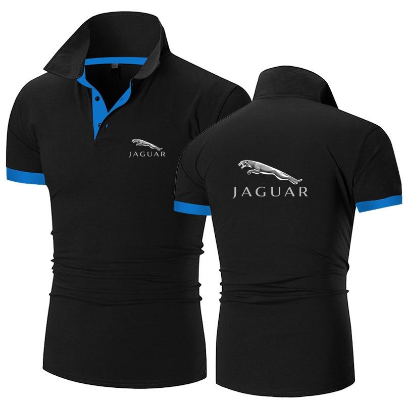 aliexpress.com - 2021 Jaguar Summer short Sleeve Polo Shirt men fashion polo shirts casual Slim Solid color business men polo shirts men clothing