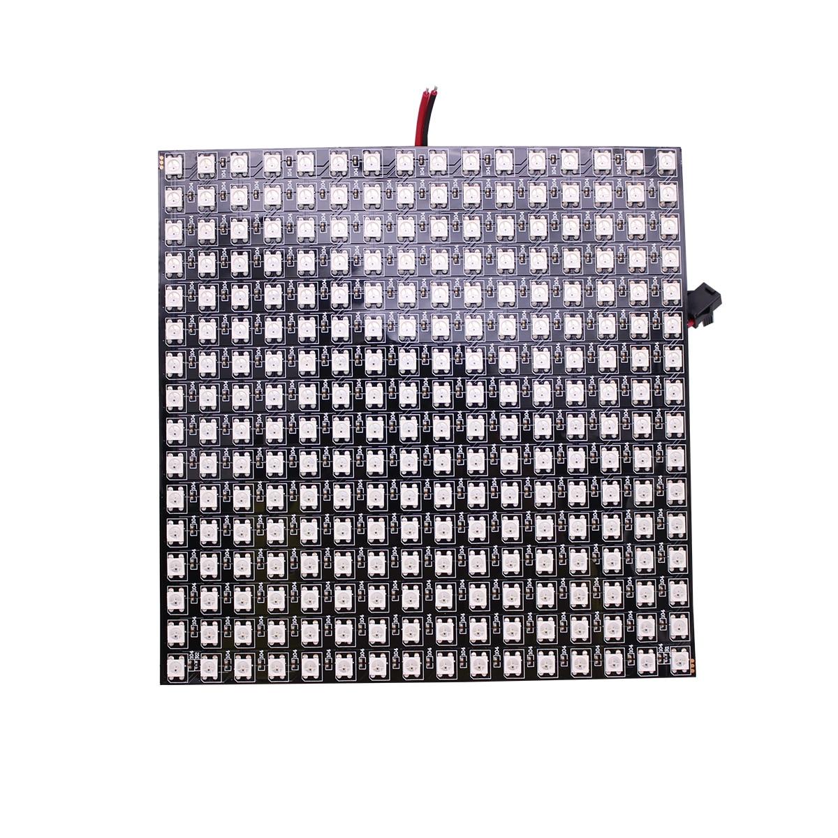 P10mm 16*16 بكسل 256 المصابيح مرنة البسيطة led مصفوفة ws2812 WS2812b