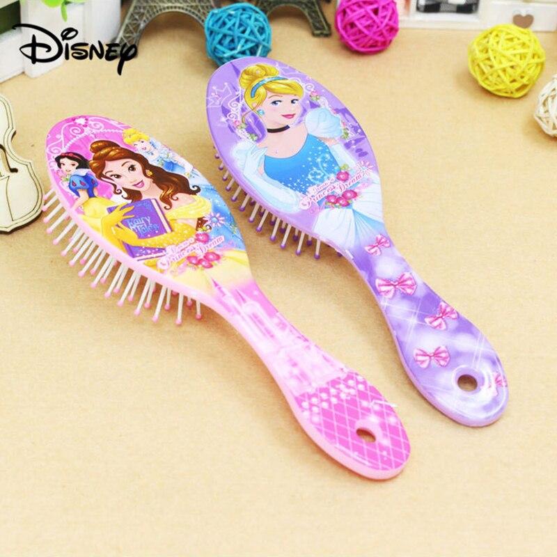 Disney Mickey Comb Cartoon Ice Romance Children's Air Cushion Comb Cute Massage in Hair Salon Sophia Comb