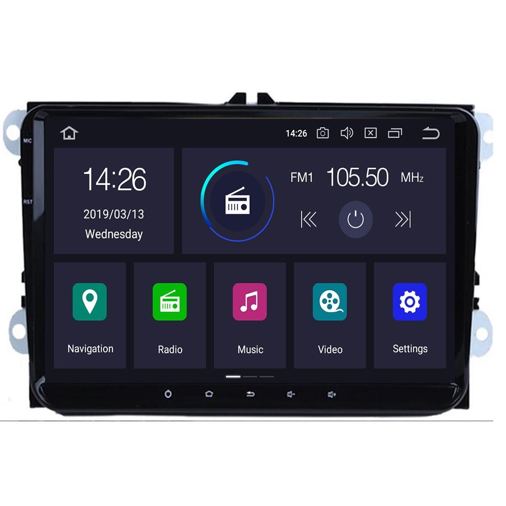 2 Din Android 10 Multimedia para coche Amarok Volksagen VW Passat B6 golf 5 6 Skoda Octavia 2 Superb 2 asiento Leon Radio de navegación