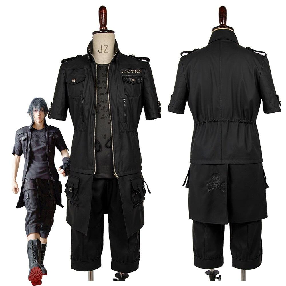 Juego Final Fantasy XV FFXV FF15 Cosplay traje Noctis Lucis Caelum chaqueta abrigo traje de fiesta de Halloween Cosplay disfraz Unisex