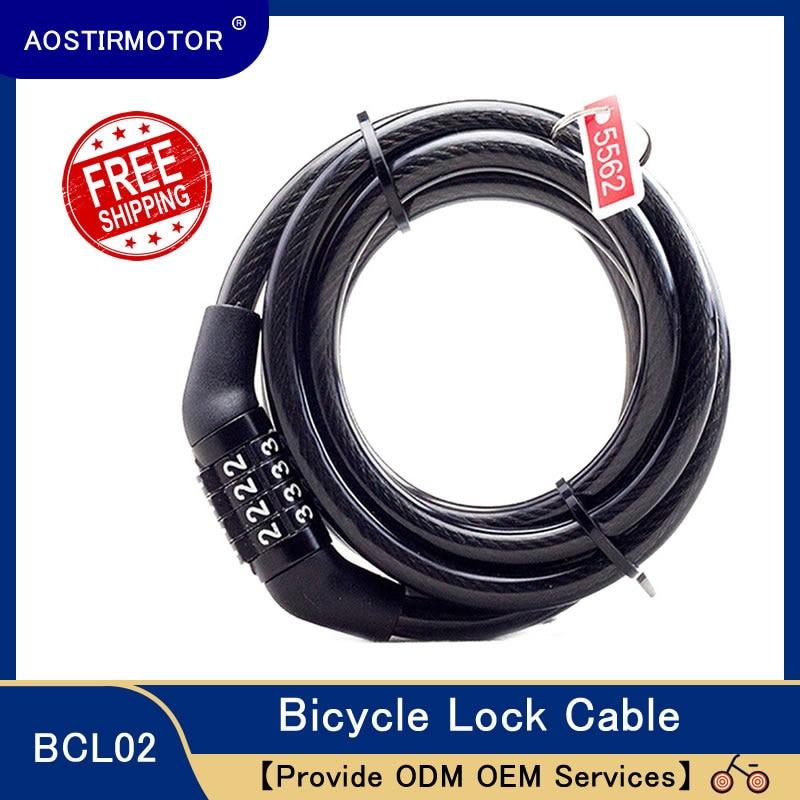 AOSTIRMOTOR-Candado de seguridad para bicicleta, cerradura antirrobo con código de 4 dígitos...