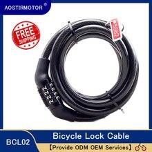 Aostirmotor bloqueio de bicicleta 4 dígitos código combinação bloqueio de bicicleta bloqueio de segurança de bicicleta equipamento mtb anti-roubo bloqueio