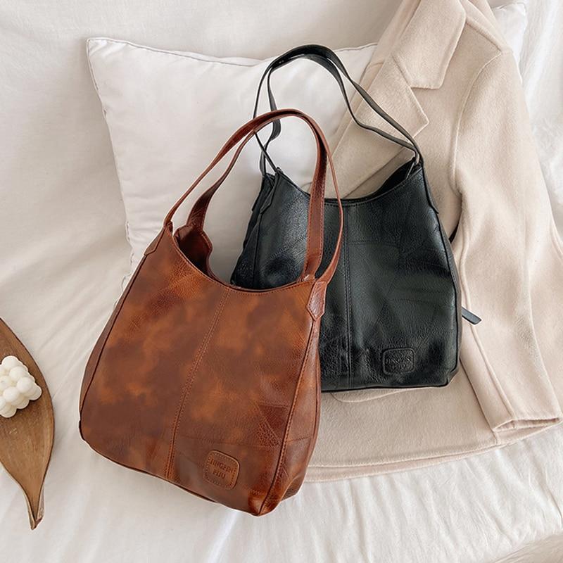 Women Hand Bag Luxury PU Leather Ladies Handbags Zipper&Hasp Women Shoulder Bags Fashion Large capac