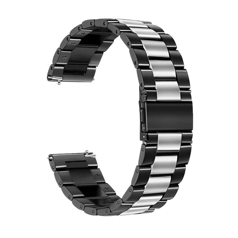 22mm / 20mm correa de acero inoxidable para Samsung S3 engranajes Frontier Galaxy 46mm / 42mm banda de Huawei reloj gt S2 clásica pulsera 2 activa