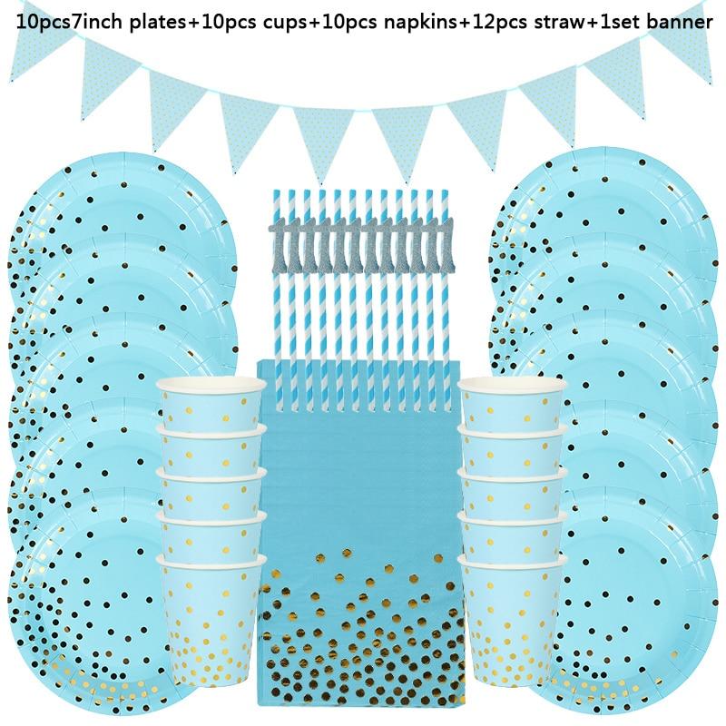 Синие латексные воздушные шары на первый день рождения мальчика-5