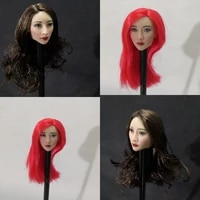 16 female head carving asian beauty asian star liu yan head carving suitable for 12 inch female dolls in stock