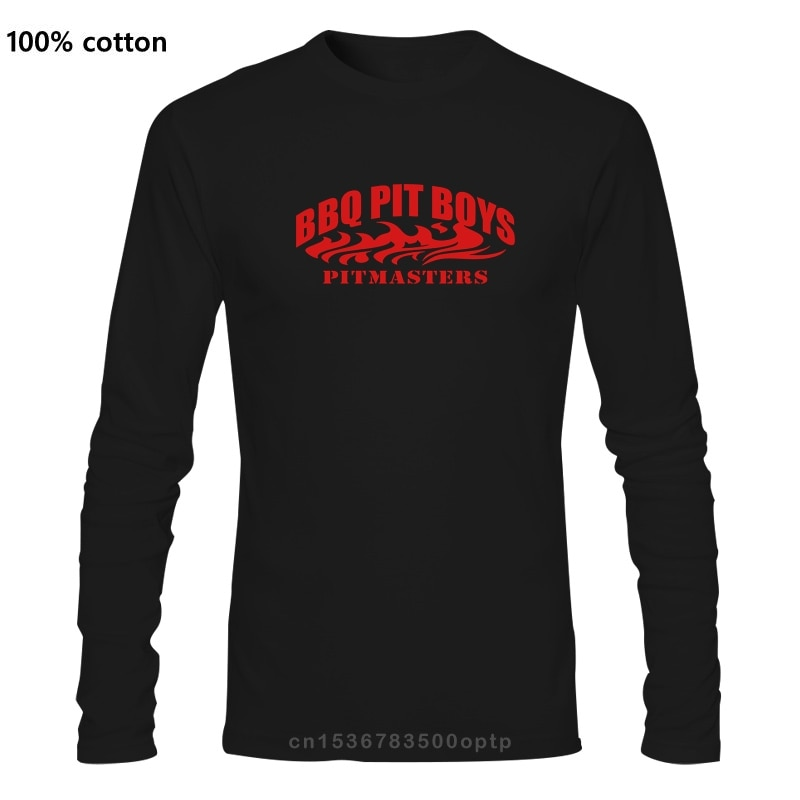 Bbq Pit Boys Pitmasters Official Logo T Shirt Standard Breathable Long sleeve Costume Euro Size S-5xl Knitted Shirt