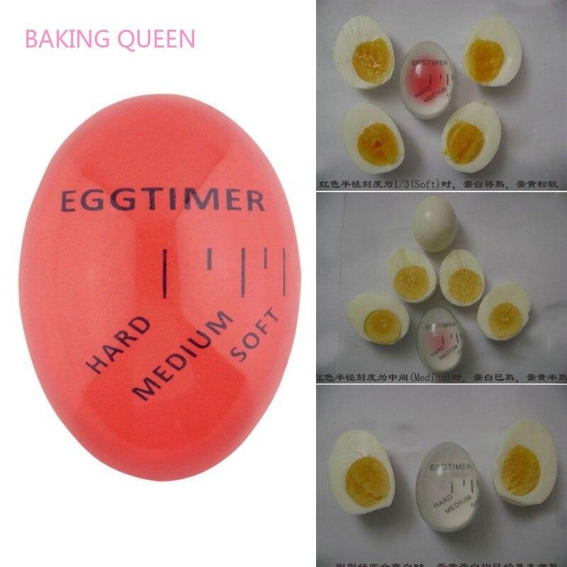 Temporizador de huevo reina para hornear, temporizador que cambia de Color, herramientas de temporización Rojas, temporizador de huevo de resina ecológico para cocina, suministros de cocina