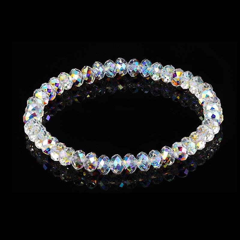 Coloridos cristales de perlas de Swarovski pulsera de cadena brazaletes de envolver joyas de mano para mujeres regalos de boda, Navidad DIY