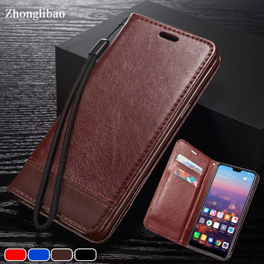 Funda de cuero con tapa para Huawei P30 P20 Mate 20 Pro Lite Y6 Y9 2018, funda magnética de lujo para tarjetas y libros, funda Huawai P30 Pro P30pro