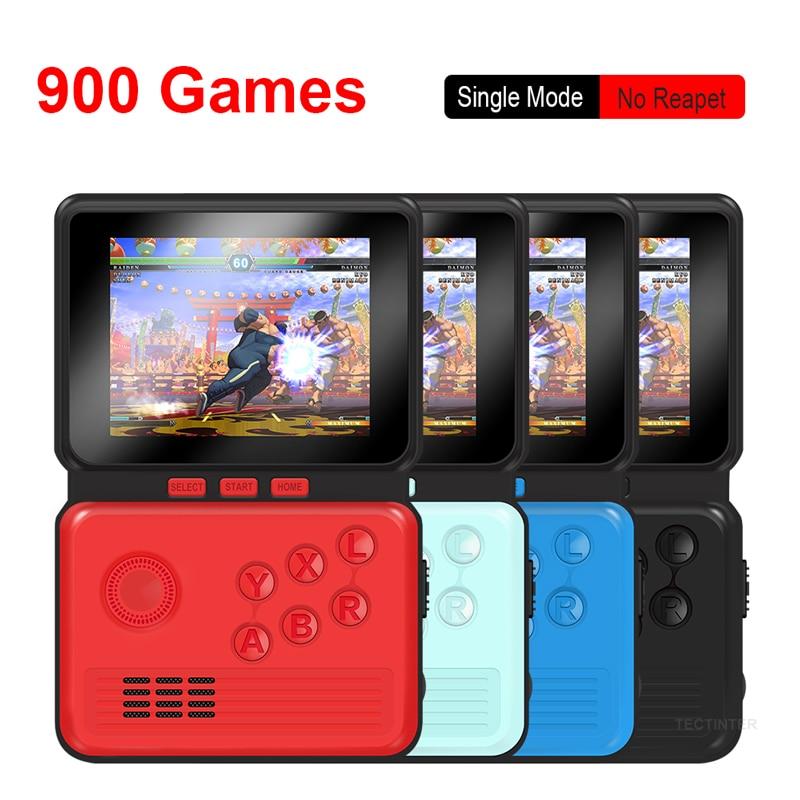 ريترو لعبة فيديو وحدة التحكم المحمولة 3.0 بوصة M3 وحدة تحكم بجهاز لعب محمول 16 بت المدمج في 900 ألعاب كلاسيكية
