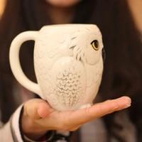 owl ceramic mug 3d animal shape coffee milk juice breakfast cup personality creative gift graduation friends gift