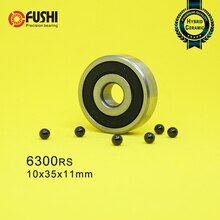 6300 Hybrid Ceramic Bearing 10*35*11 mm ABEC-1 1PC Industry Motor Spindle 6300HC Hybrids Si3N4 Ball Bearings 3NC 6300RS