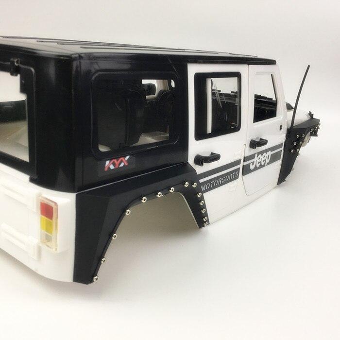 4PCs Nylon Fiber Front Rear Wheel Eyebrow Armor For 1/10  Jeep Wrangler Body RC Crawler Car AXIAL SCX10 90046 AX103007 enlarge