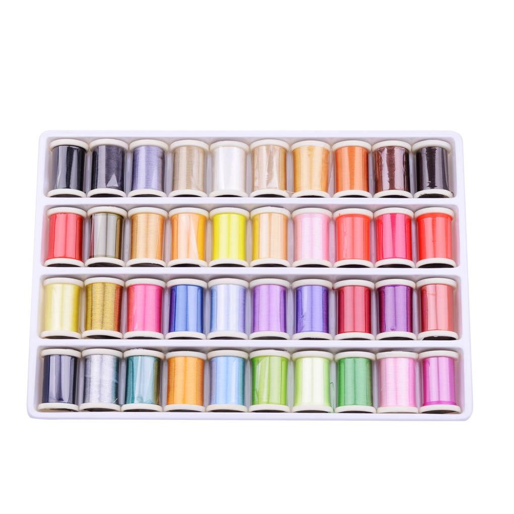 Hilos de coser hechos a mano de colores variados, herramientas de bordado, hilo de poliéster para máquina de coser, costura a mano