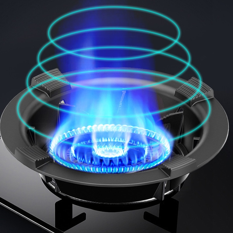 New Cast Iron Energy Saving Bracket Gas Stove Cover Disk Fire Reflection Windproof Bracket Accessories For LPG Cooker Kitchen