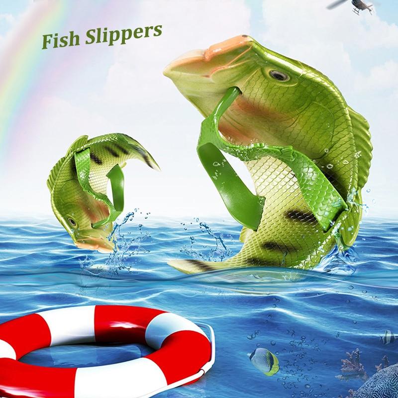 Chinelos de Verão Engraçado ao ar Chinelos de Peixe dos Desenhos Chinelos de Praia Criativos por Atacado Unisex Livre Confortável Slides Animados Animais Chinelos