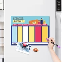 weekly planner monthly calendar schedule magnetic erasable dry erase board for wall message drawing writing fridge magnet board