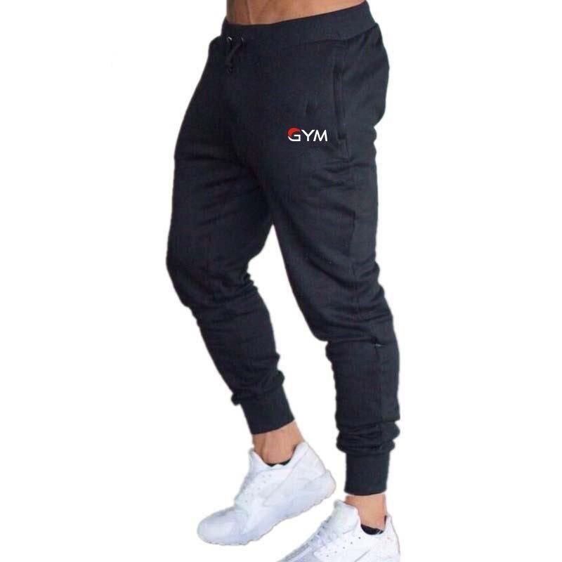 De moda nuevo logotipo de la aptitud de los hombres pantalones de algodón de los hombres de deportes y fitness Pantalones Pantalón deportivo casual pantalones de jogging pantalones ajustados