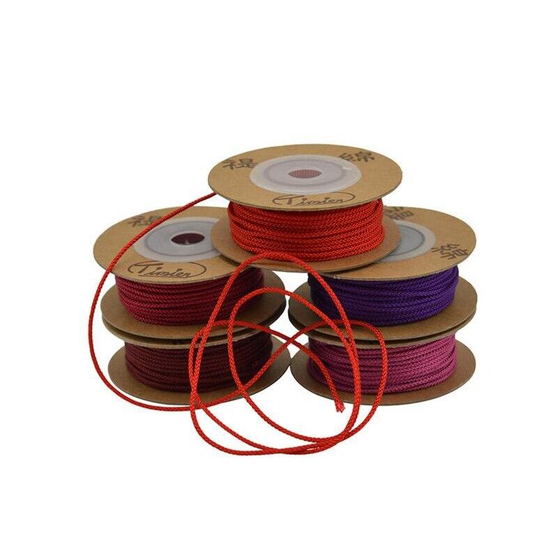 Linha de Jóias Cord chinês Knot Cordão Nylon 1 milímetros 1.5 milímetros Spool Cordas Trança Linha Talão Bodhi Corda Colar DIY corda Linha de Jade Pulseira