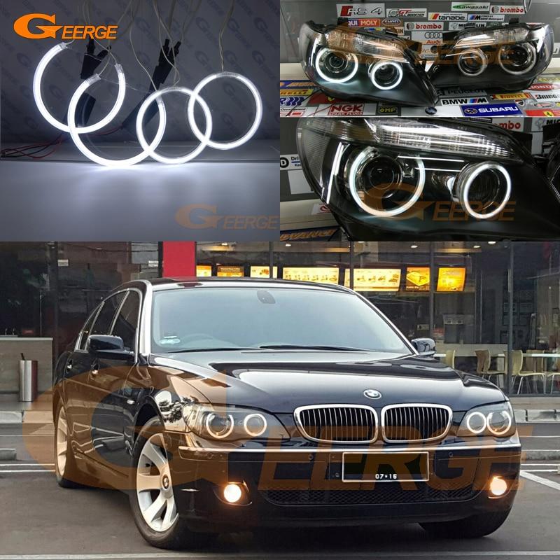 Excellent Ultra bright illumination CCFL Angel Eyes halo rings For BMW E66 E65 Facelift 750I 760i 750Li 760Li 2006 2007 2008