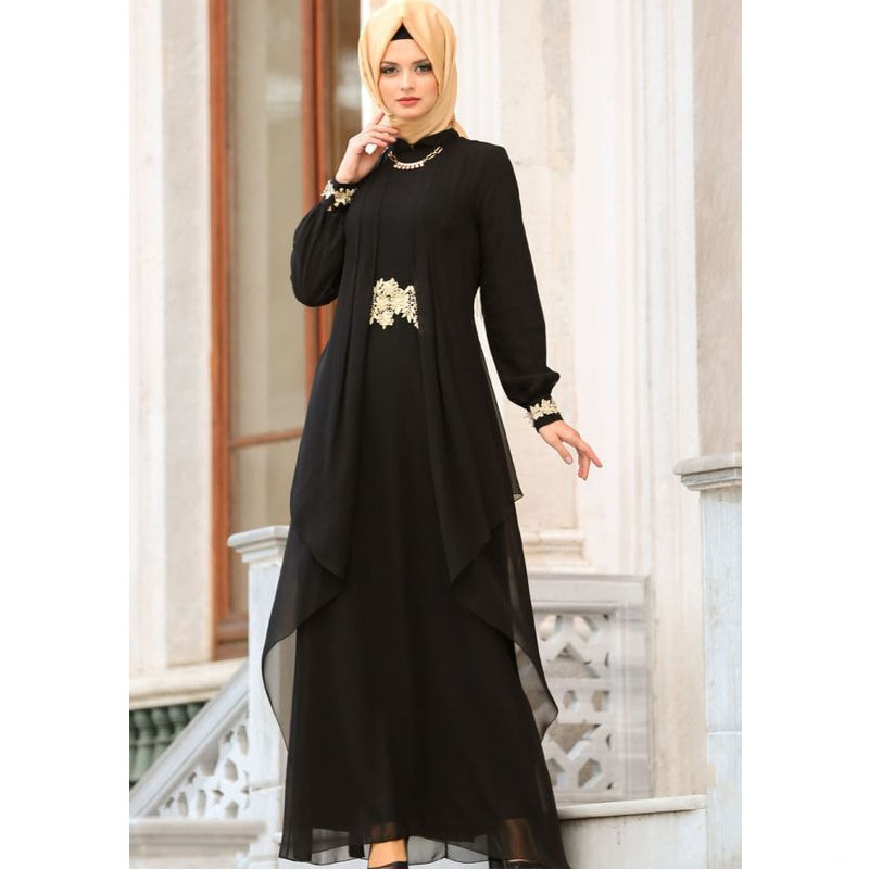 Wepbel dubai árabe vestidos de roupas turcas vestido de chiffon muçulmano feminino bordado marroquino kaftan plus size roupa islâmica abaya