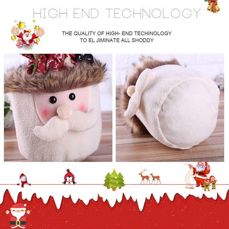 Sacos de natal boneca saco de presente de linho reutilizável cordão envoltório presente festa sacos de armazenamento 3 tipos para decorações de natal