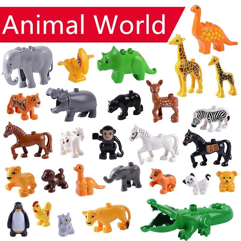 Игрушки-животные «сделай сам», строительные блоки, аксессуары для животных, фигурки панды, тигр, совместимы с строительными блоками, игрушк...