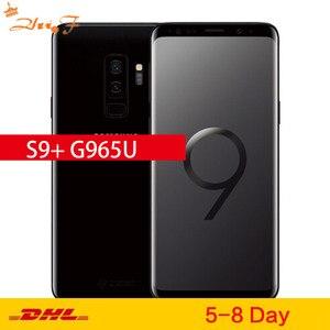 Разблокированный сотовый телефон Samsung Galaxy S9 Plus S9 + G965U/G965U1, LTE, Восьмиядерный, 6,2 дюйма, двойная камера 12 МП, 6 ГБ ОЗУ, 64 Гб ПЗУ, NFC, Snapdragon 845