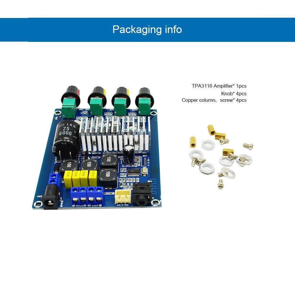 TPA3116D2 Bluetooth 5,0 Amplificador Digital de Audio 2,0 Amplificador 50W * 2...