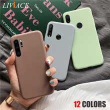 Матовый Силиконовый чехол для телефона huawei P smart plus p20 p30 p8 p9 p10 lite 2021 2018 2019, мягкий ТПУ чехол-накладка карамельных цветов