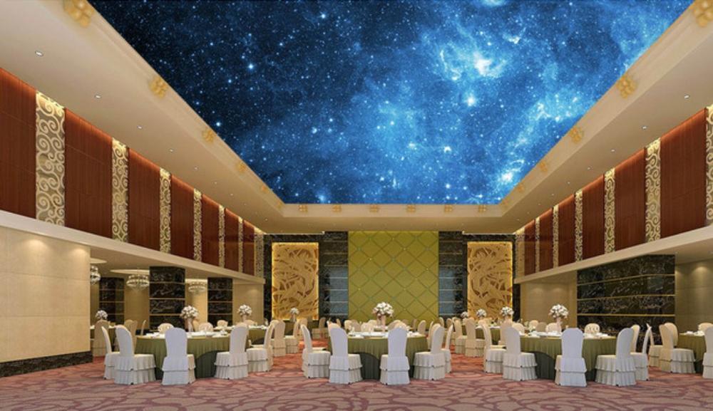 3D fantasía bosque techo Mural dormitorio techo Fondo pared Mural papel tapiz