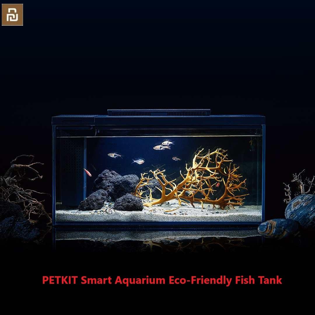 Get Xiaomi PETKIT Smart Aquarium Eco-Friendly Fish Tank Mobile APP Aquarium Management Smart Lighting System Light Gradient Mode