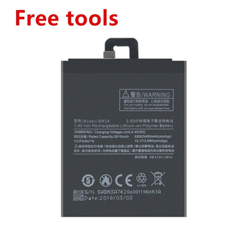 100% nueva batería de repuesto BM3A bn3a batería de para xiaomi note 3 3300mAh baterías de teléfono de alta capacidad bm 3a