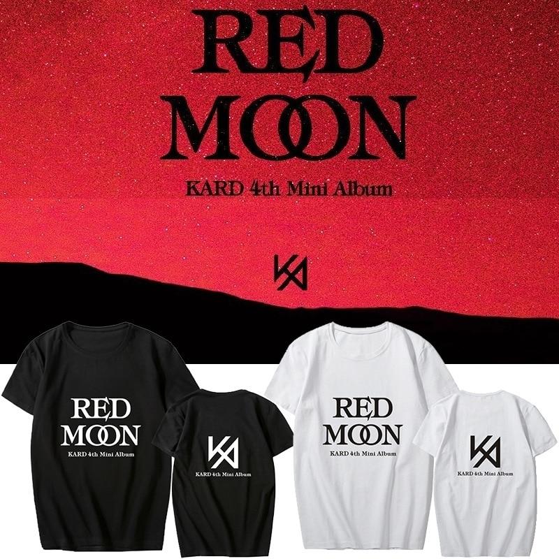 KPOP KARD 4th Mini Album  Support T-shirt Cotton Short Sleeve Tshirt Loose Tops K-pop K.A.R.D Fan Collection Gifts